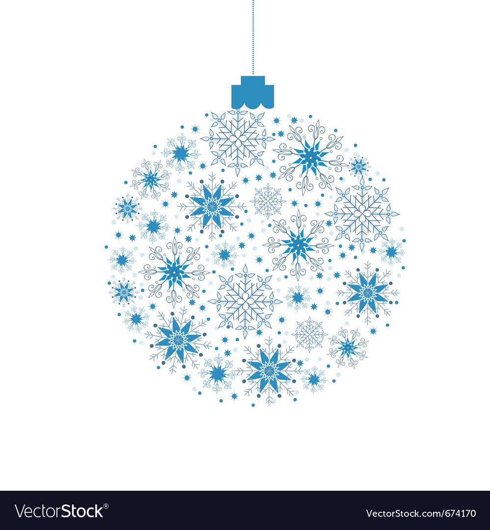 Christmas background ball vector image