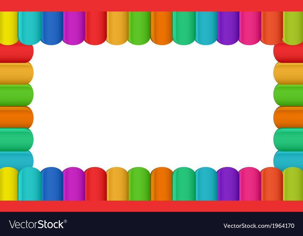 Colorful border design vector image