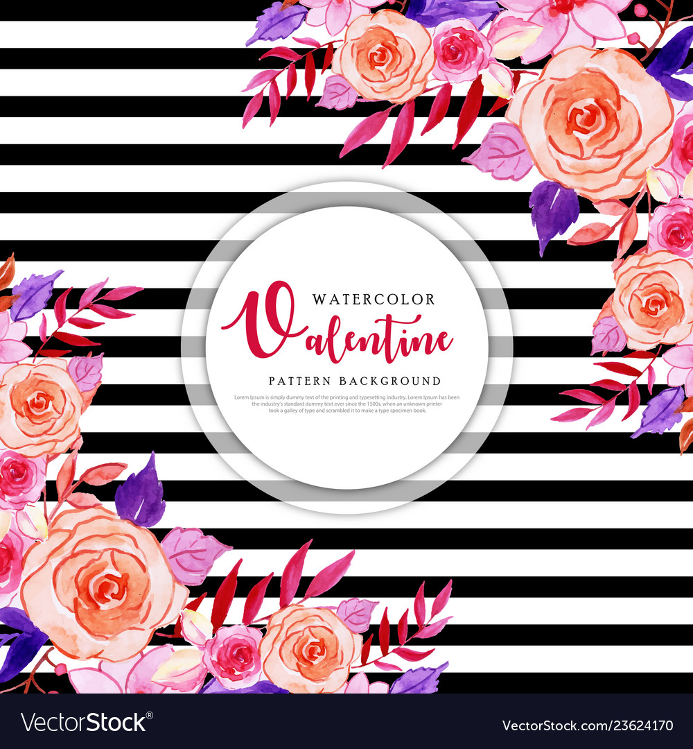 Colorful watercolor valentine background