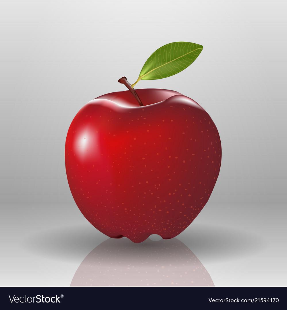 Fresh nature apple fruit red food organic