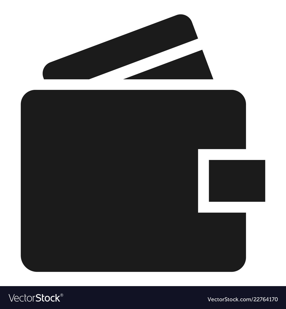 money wallet icon simple style royalty free vector image vectorstock