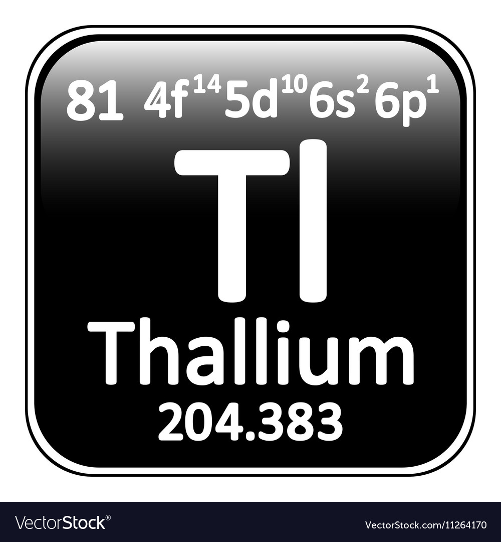 Periodic table element thallium icon vector image
