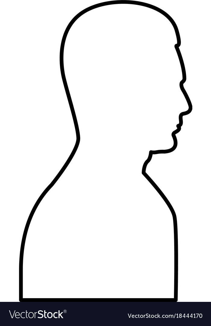 Profile side view portrait black icon vector image