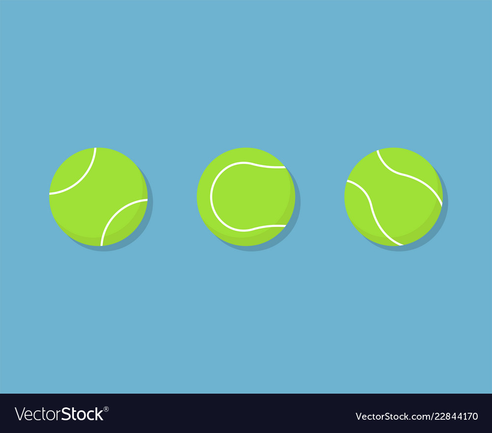 Tennis Ball Icon Flat Design With Shadow Vector Image