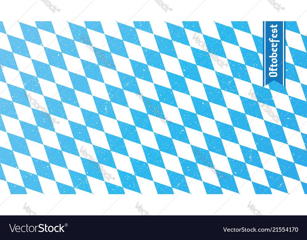 Traditional oktoberfest rhombus blue and white