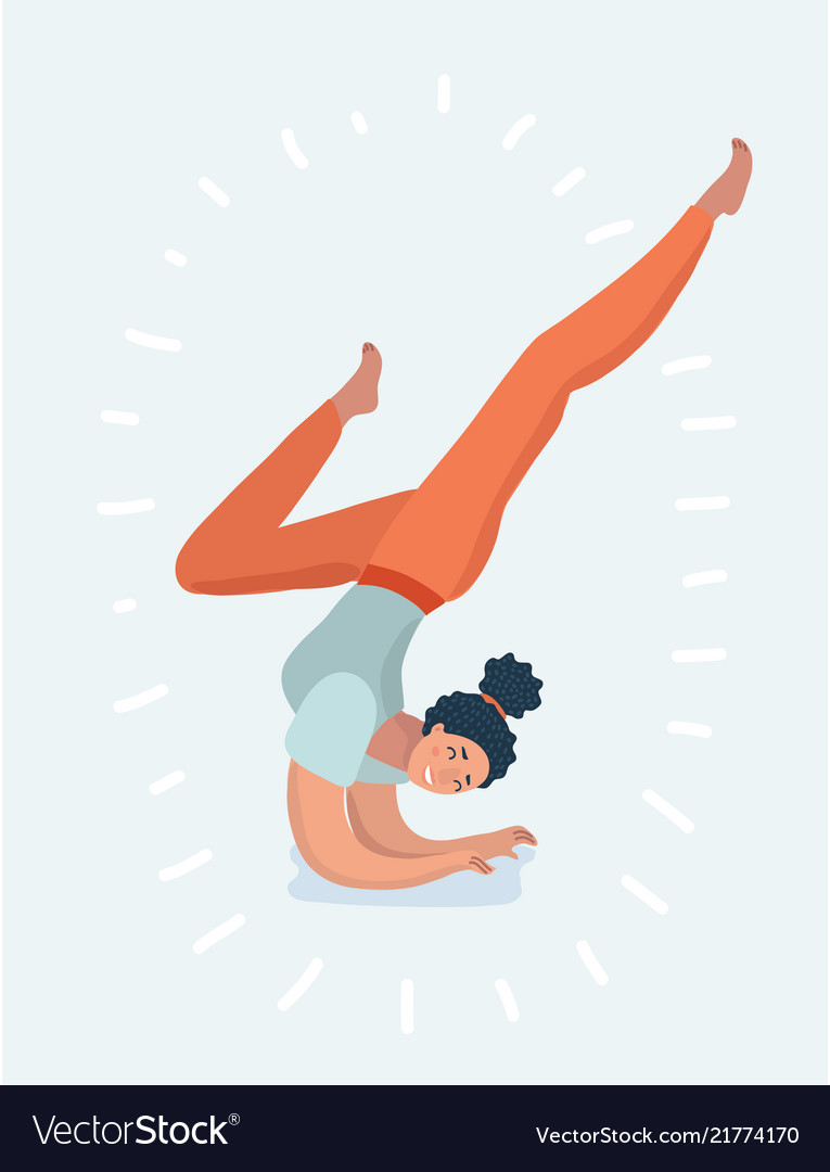 Young girl or woman is doing yoga