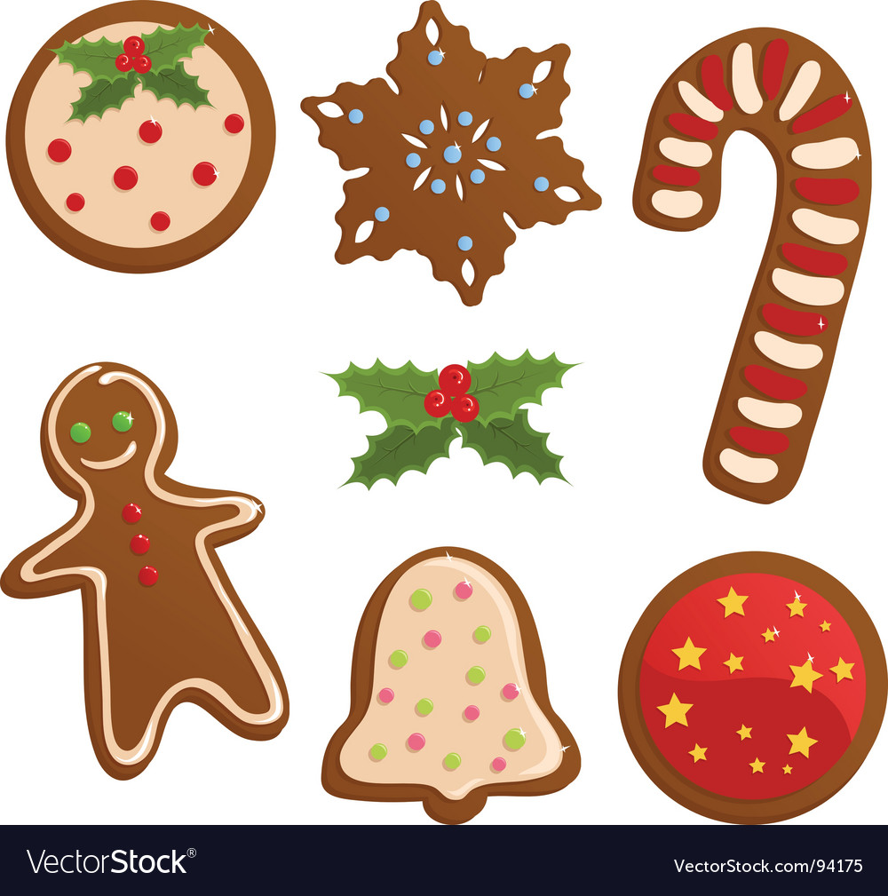 Christmas cookies Royalty Free Vector Image - VectorStock