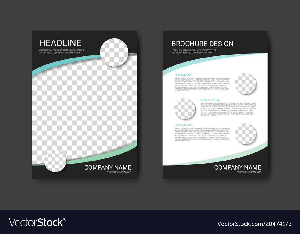 colorful brochure template a4 flyer design vector image