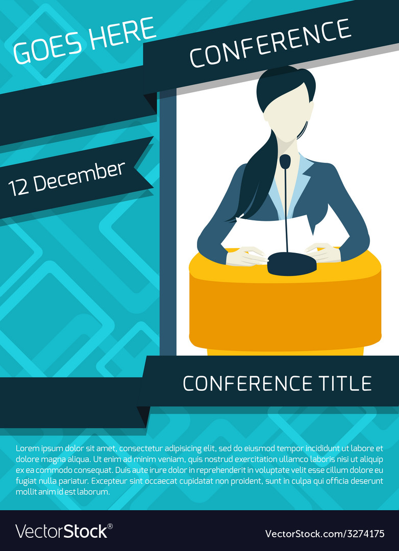 conference announcement template royalty free vector image