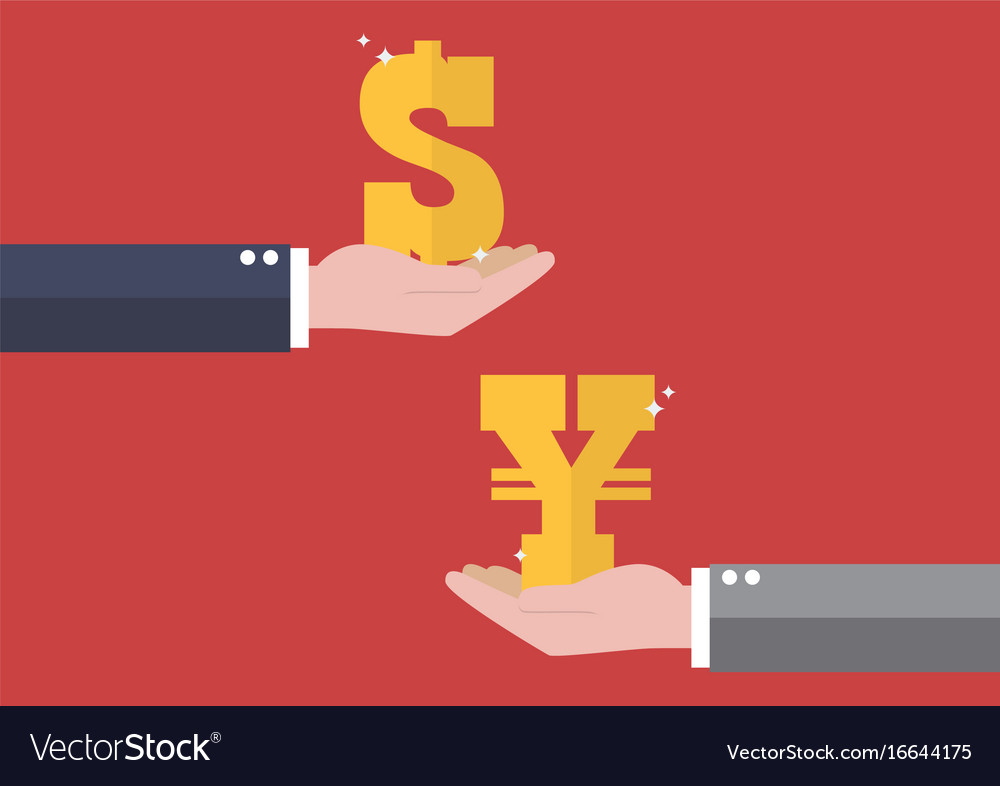 Dollar And Yen Royalty Free Vector Image