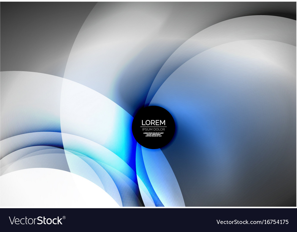 Digital glowing waves and circles