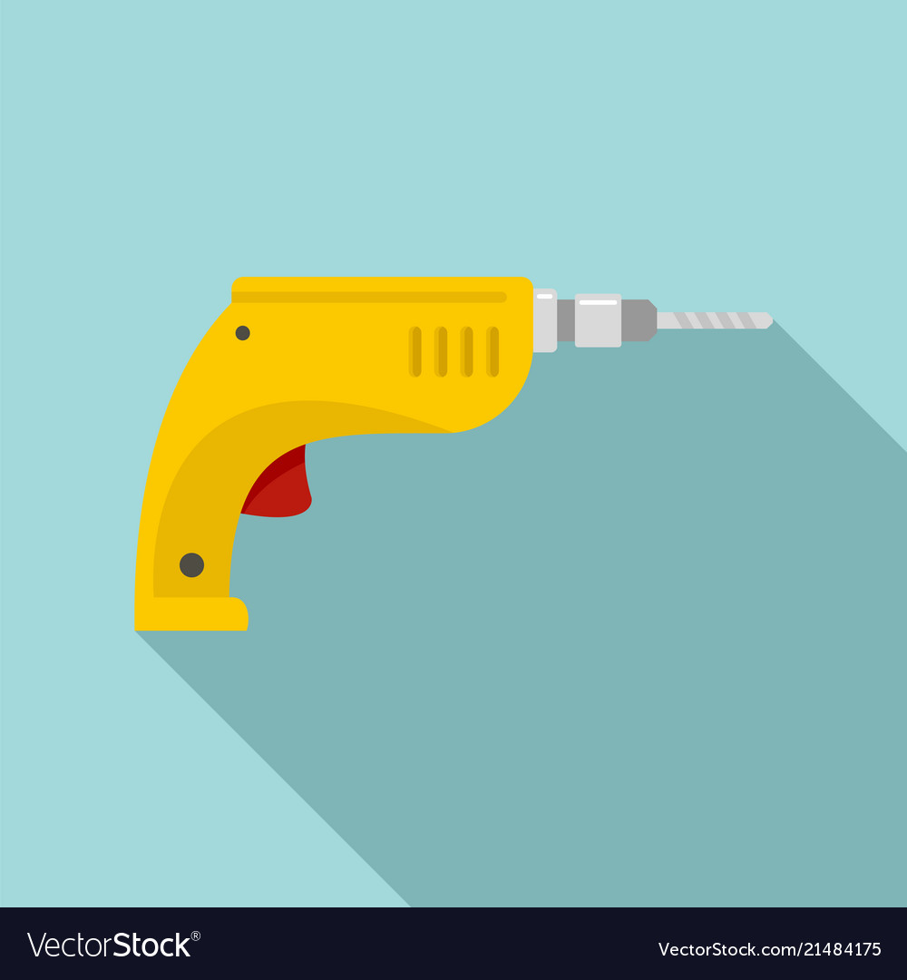 Drill icon flat style