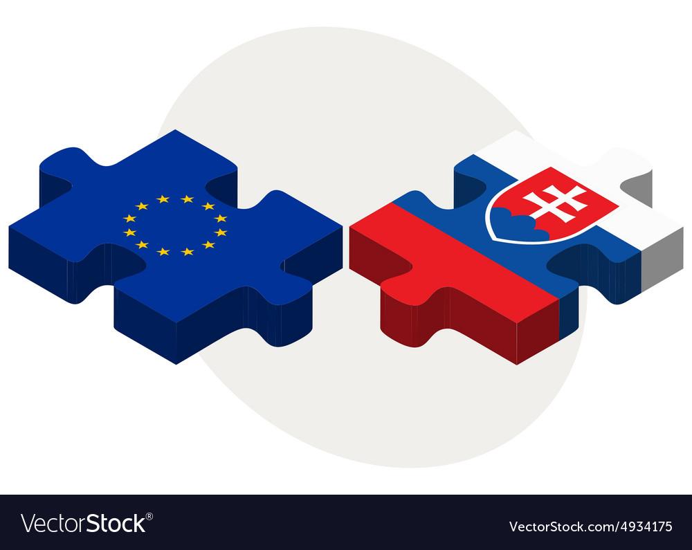 47e30e1276 European Union and Slovakia Flags Royalty Free Vector Image