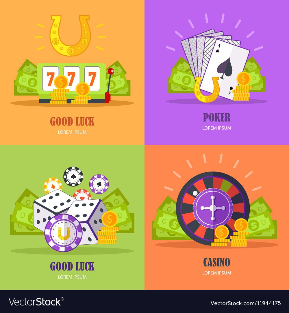 Set of Gambling Conceptual Banners