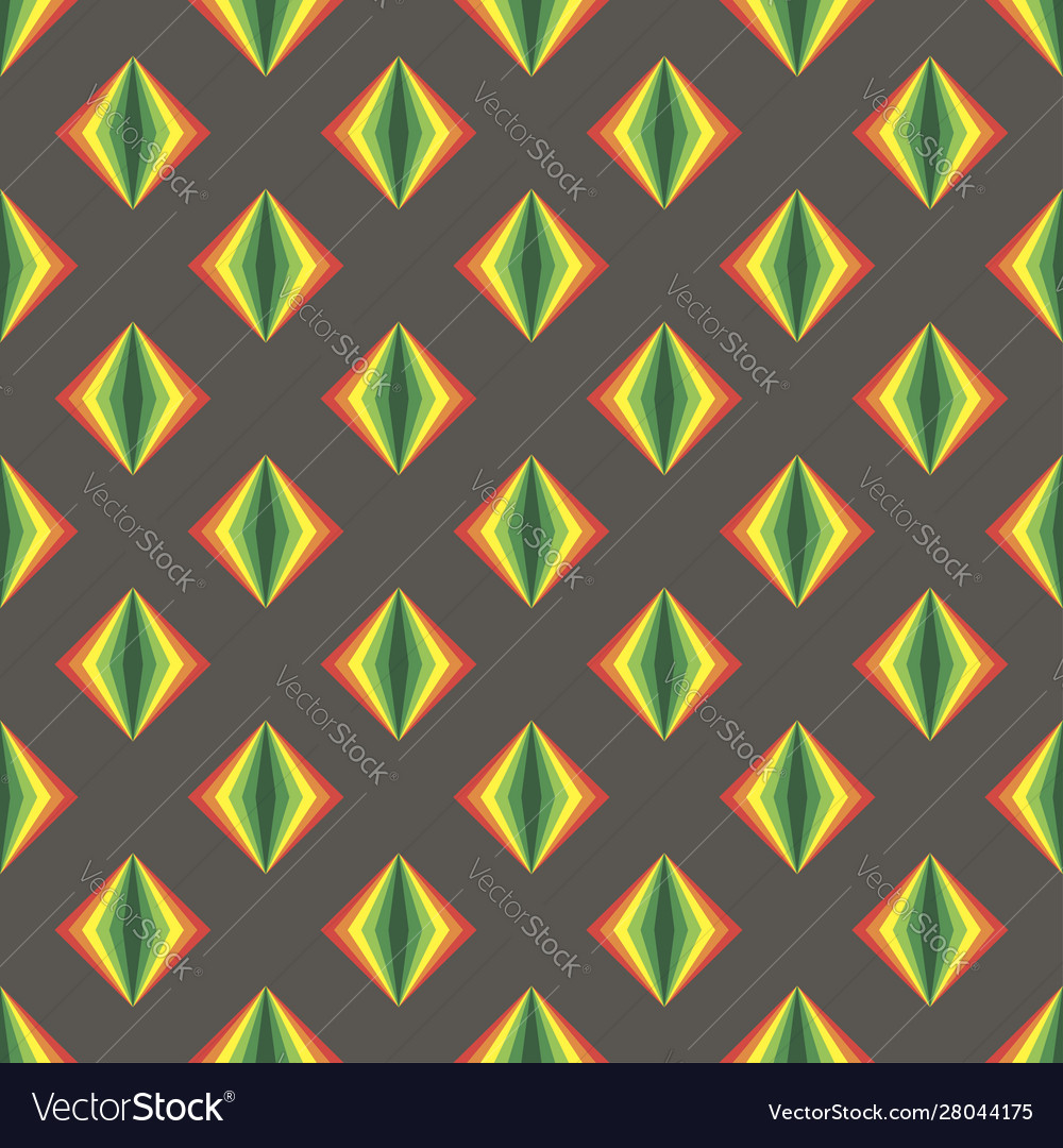 Simple gray pattern background with rainbow rombs