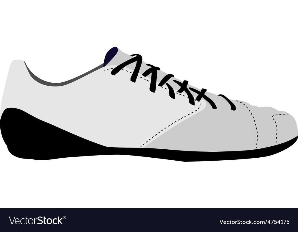 White sport shoe