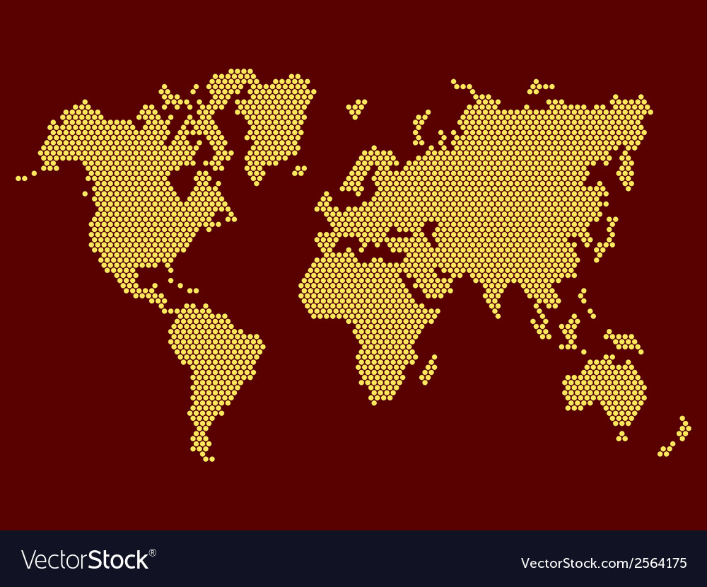 World map dotted on dark background royalty free vector world map dotted on dark background vector image gumiabroncs Choice Image