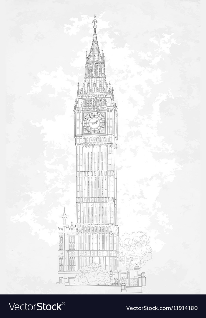 Drawing London Big Ben