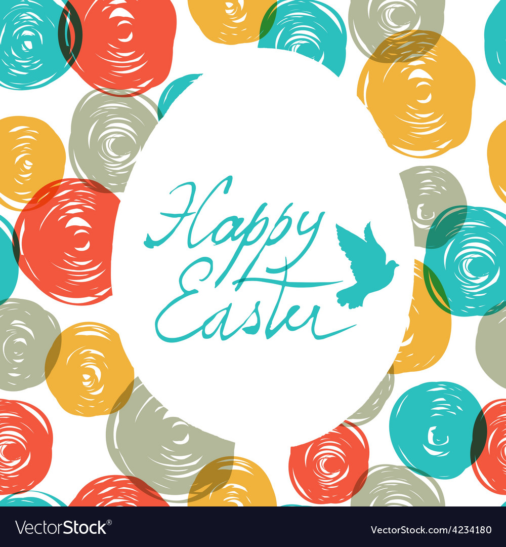 Easter colorful doodles vector image