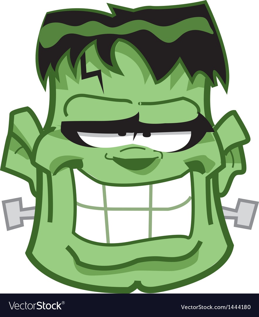 Frankenstein Head vector image