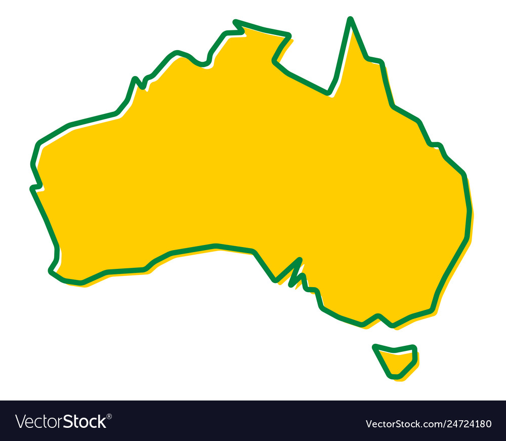 Map Of Australia Pdf.Simplified Map Of Australia Outline Fill And