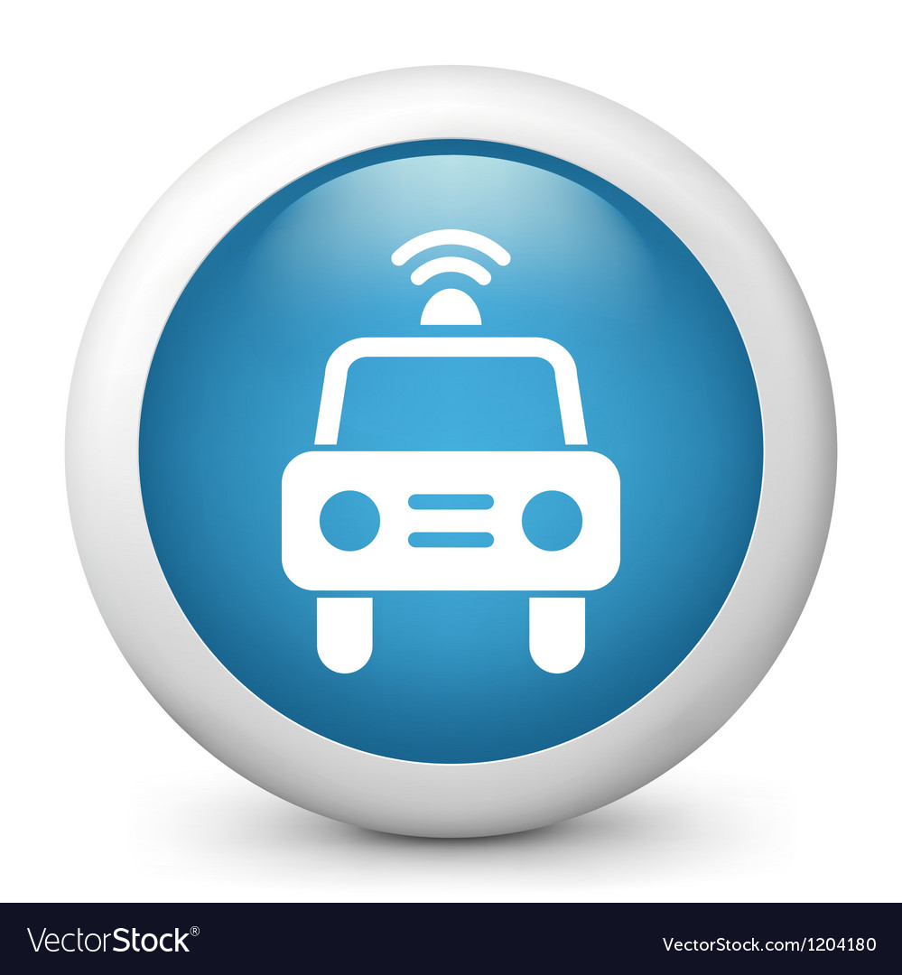 Taxi Glossy Icon vector image