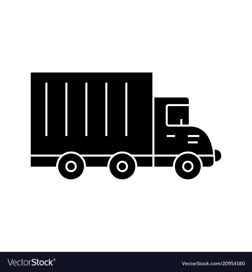 Truck car black icon concept truck car
