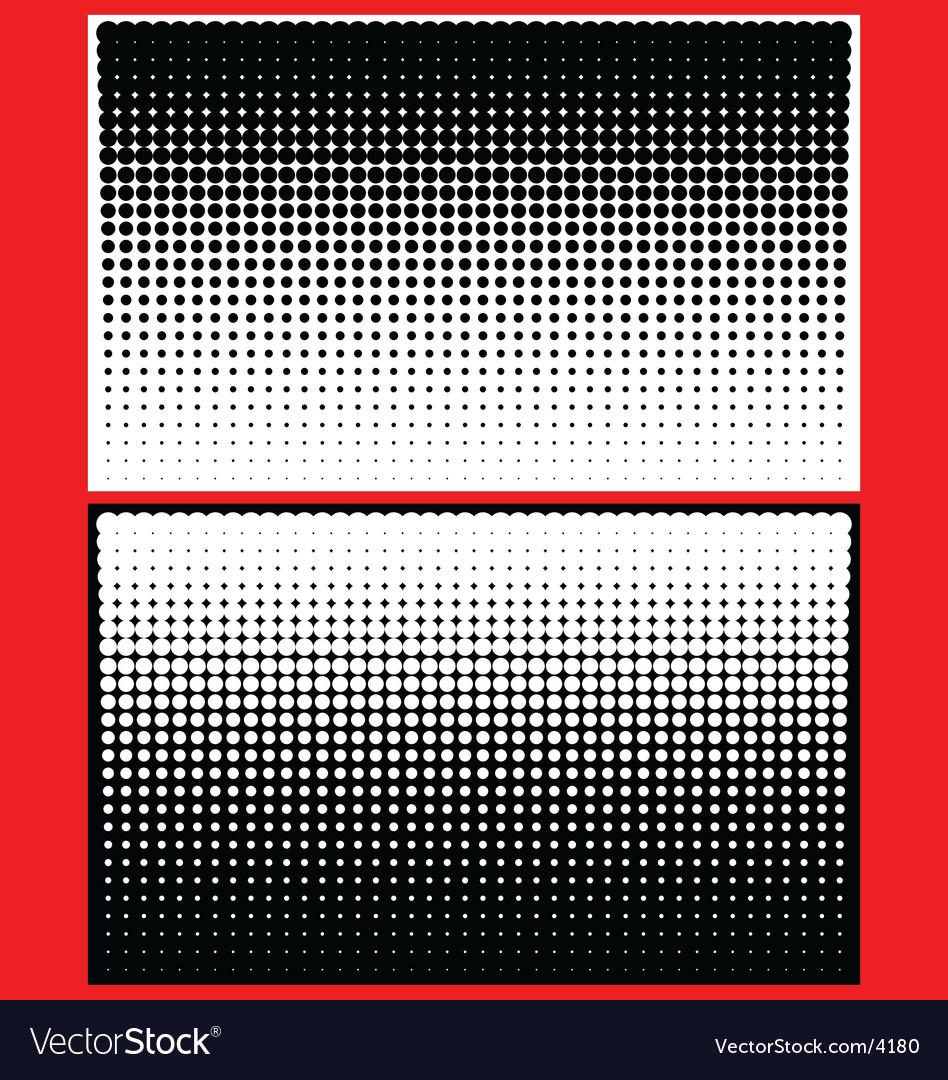 Yin yang halftone dots