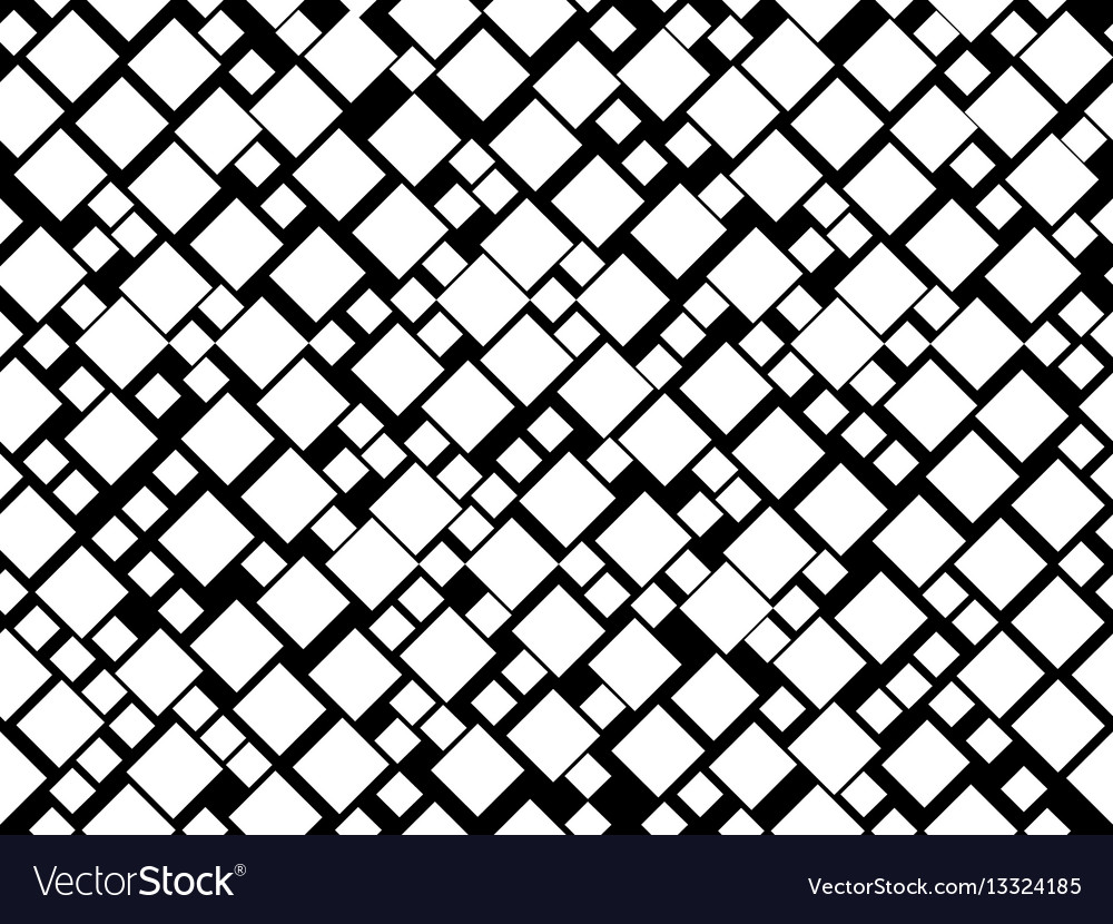 Black and white seamless pattern with squares