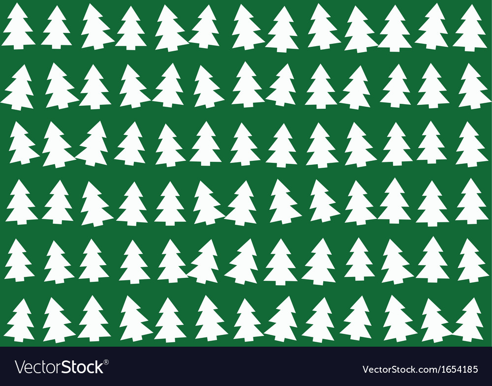 Christmas trees pattern background
