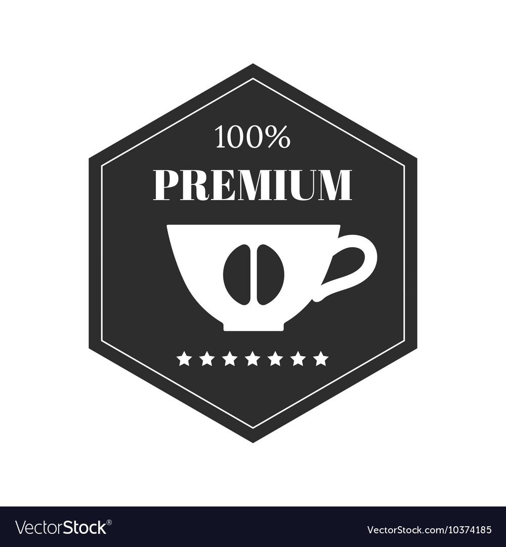 Coffee emblem badge logo label isolated on