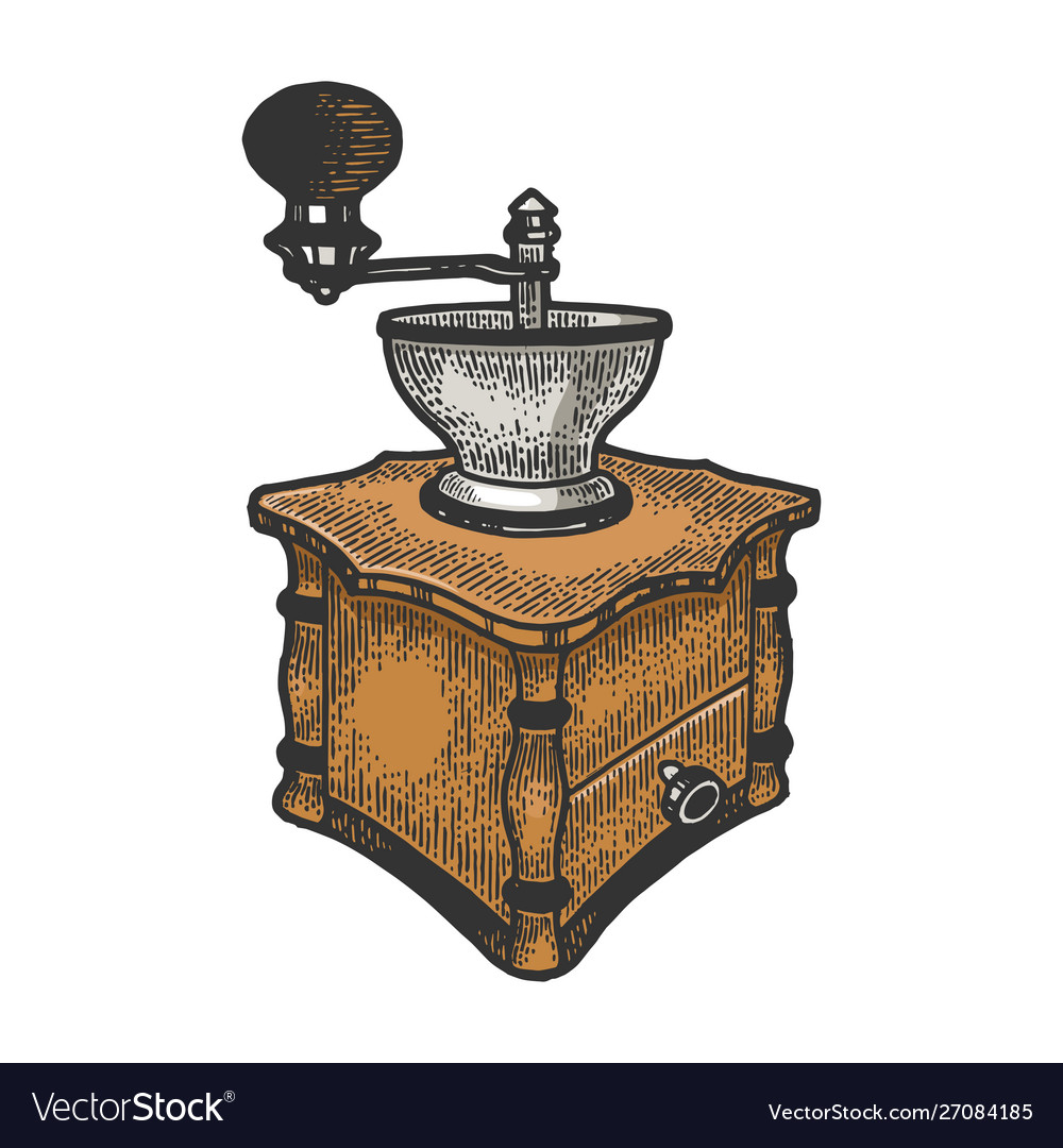 Coffee grinder color sketch
