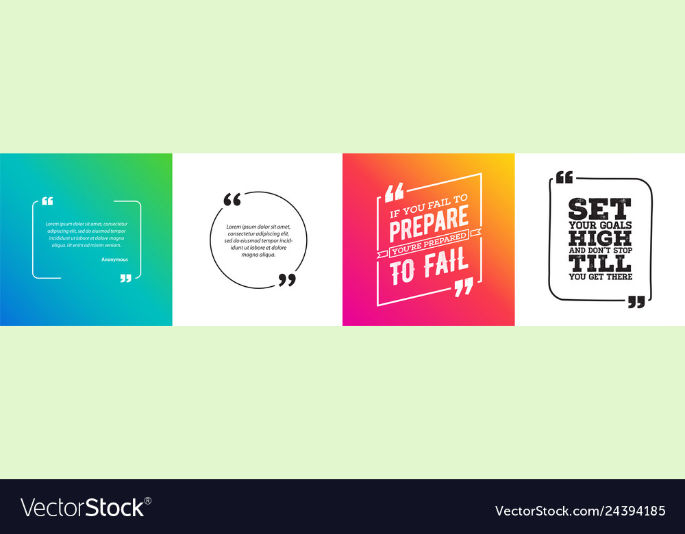 Remark quote template bubble with vivid