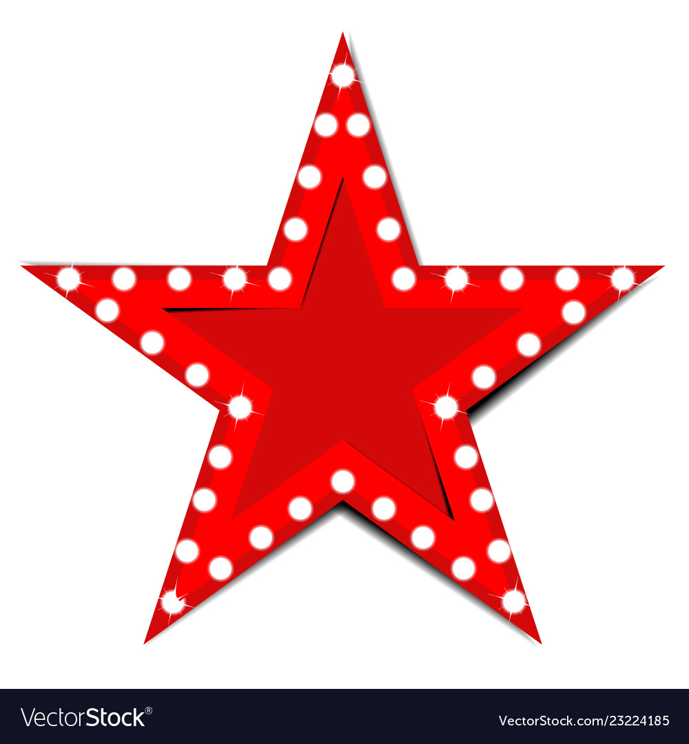 Show light stars red background