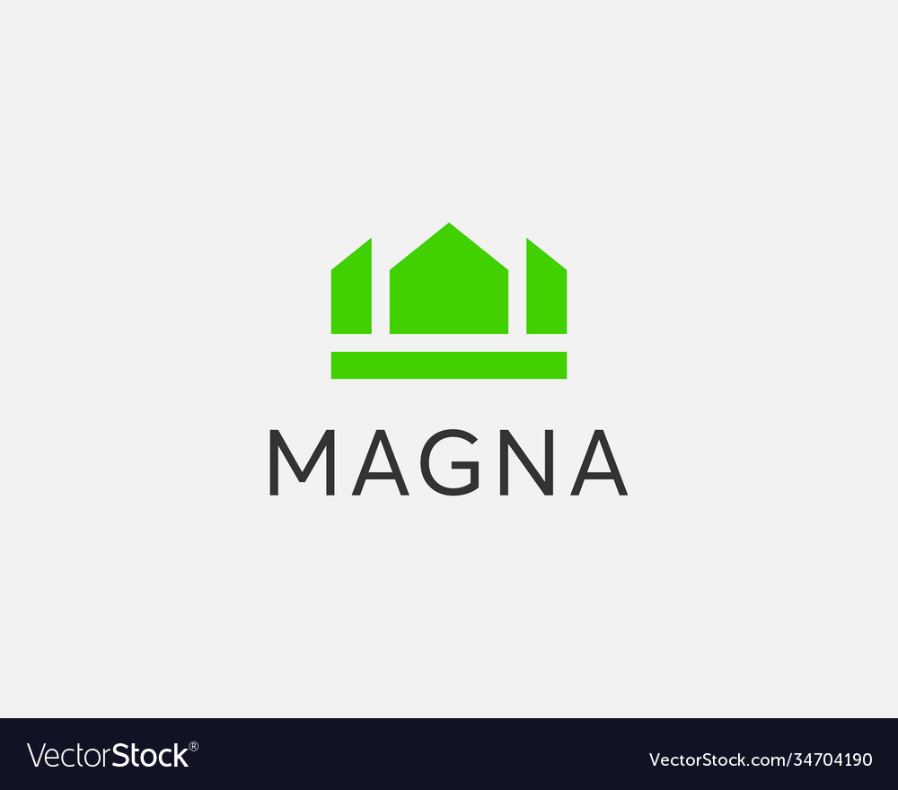 Abstract crown king house symbol template