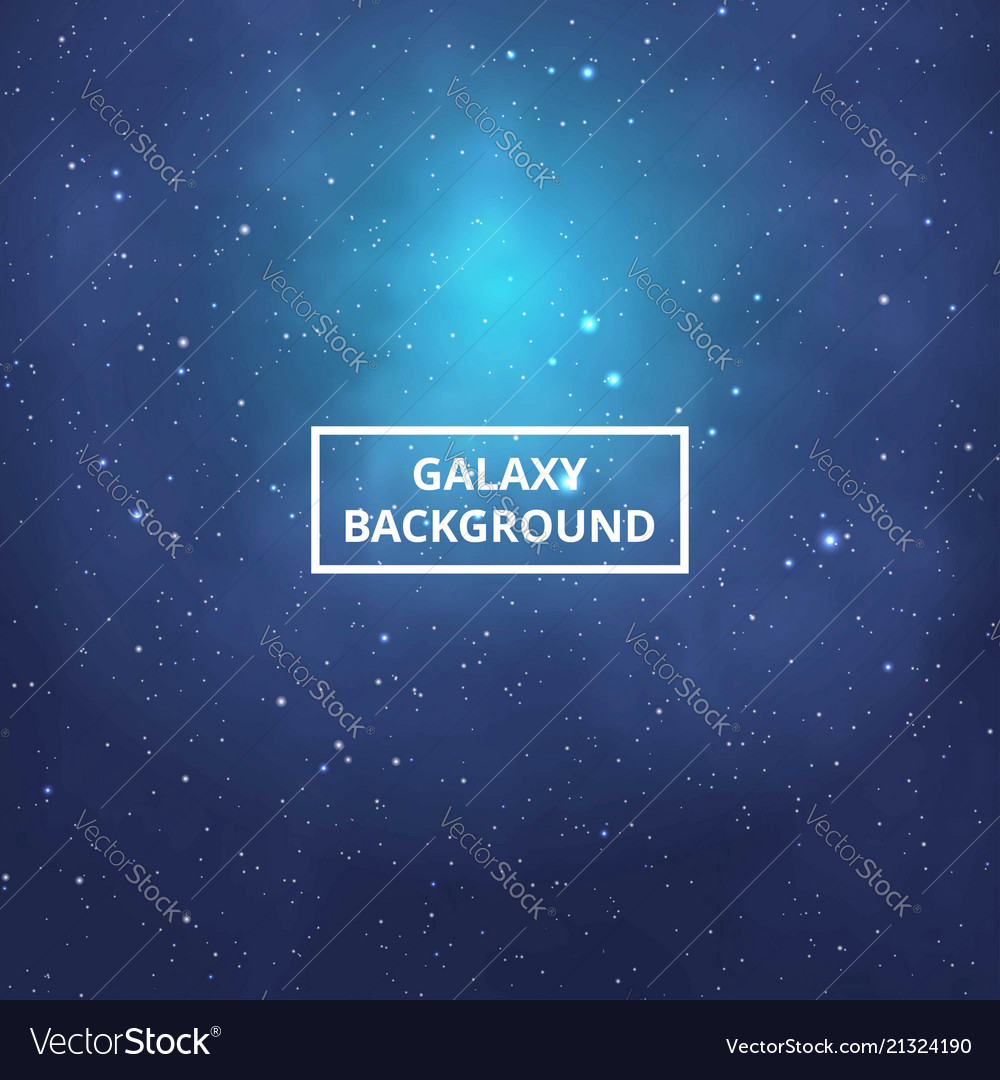 Beautiful night skies with pole stars colorful vector image