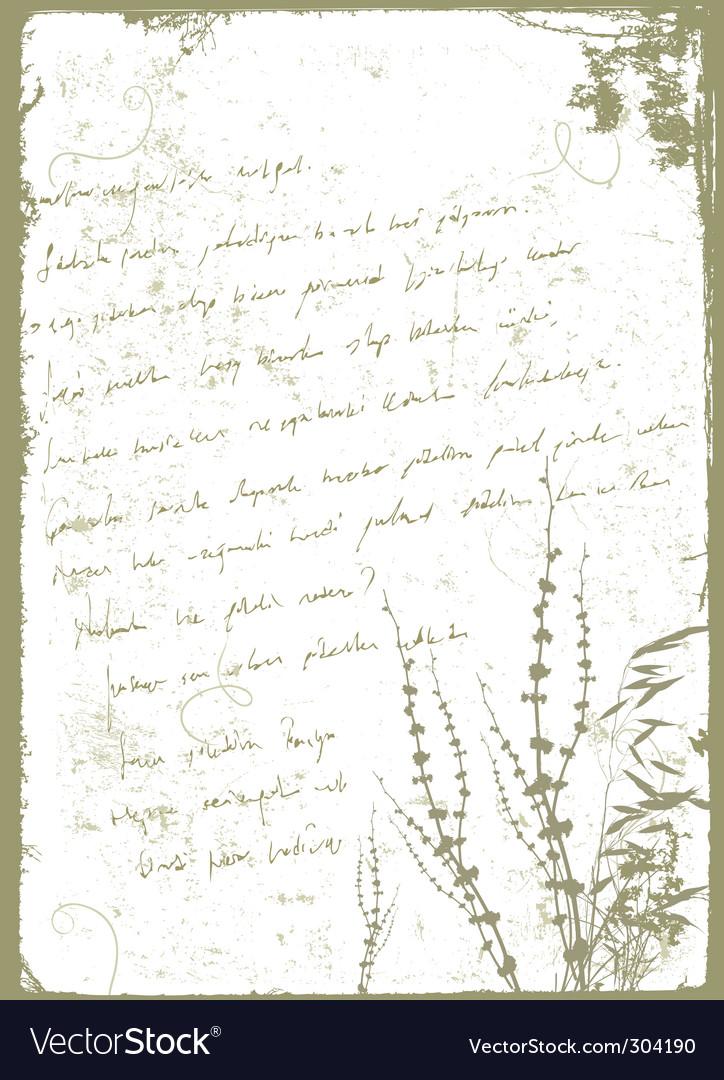 Grunge letter vector image