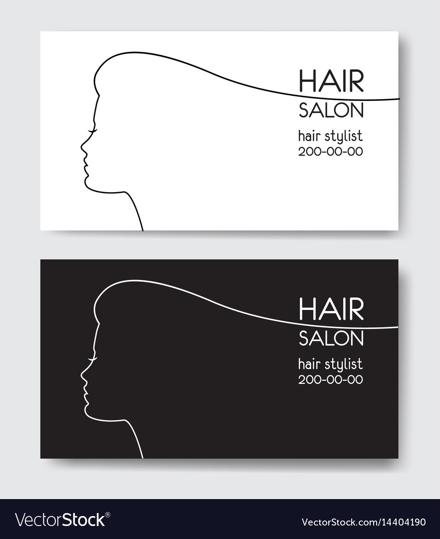 Hair salon business card templates withl woman vector image wajeb