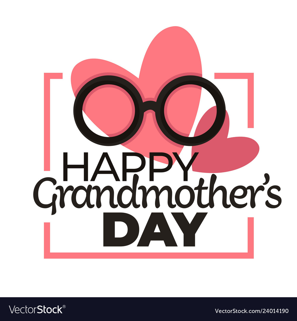 Happy grandmother day isolated holiday icon