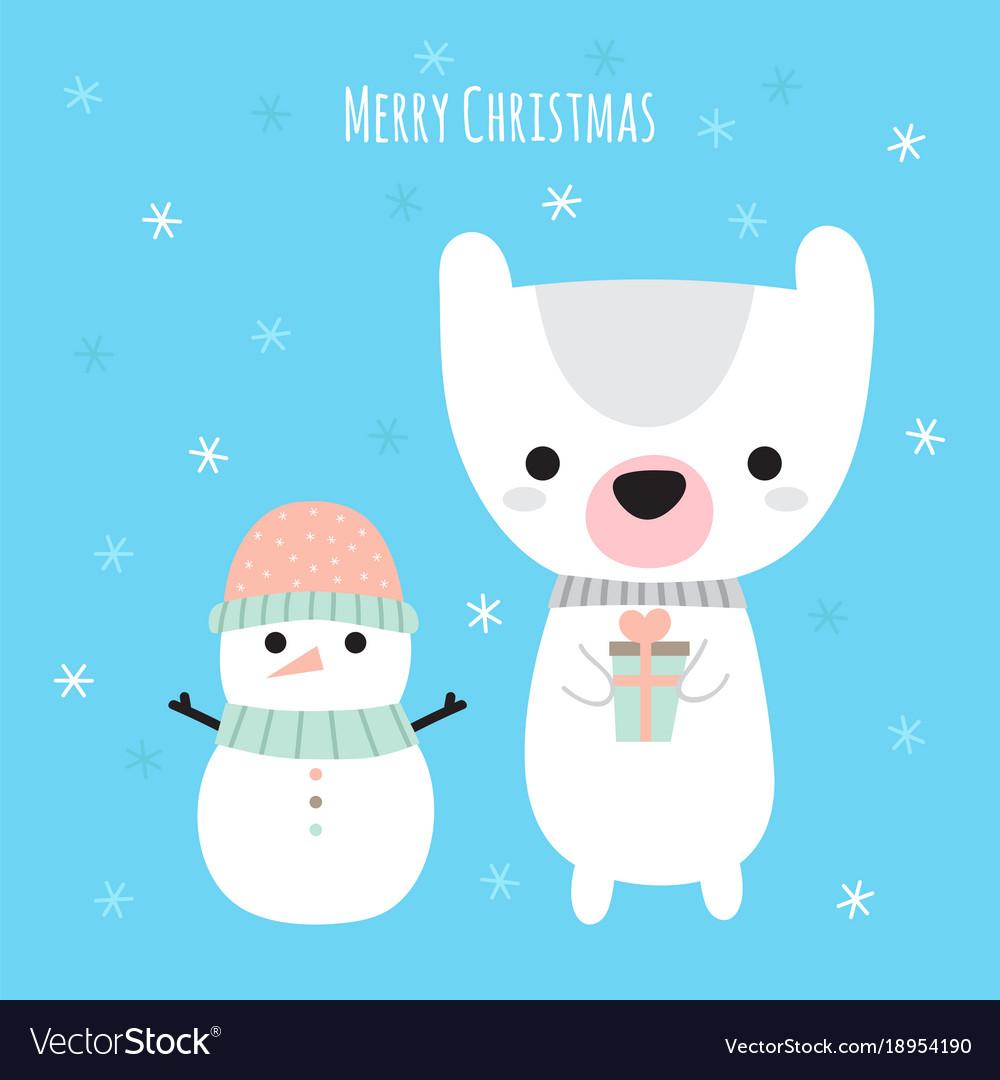 Merry christmas cute christmas greeting card