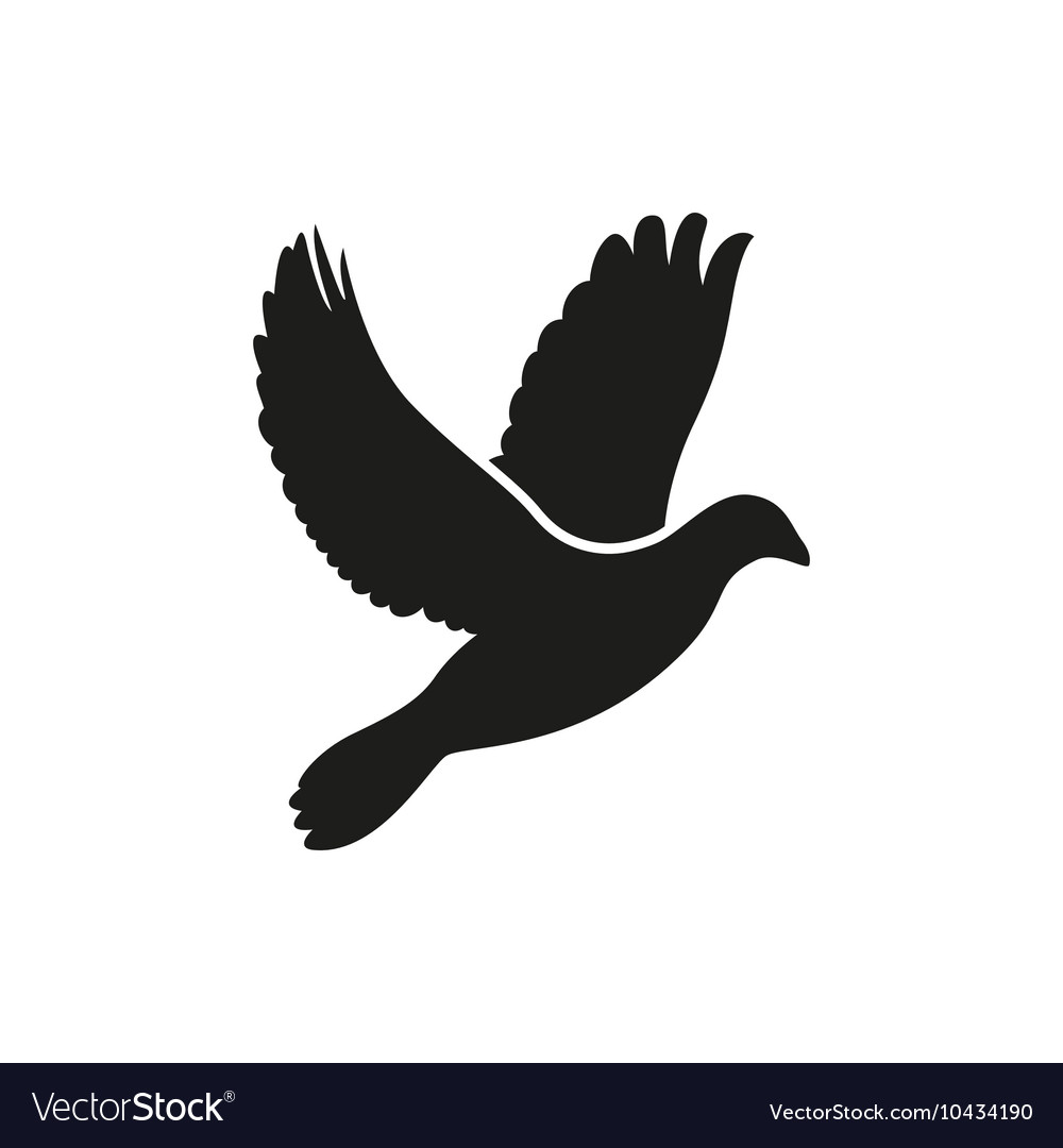 Simple Flying Dove Side Silhouette Icon Style Vector Image Dove silhouette free brushes licensed under creative commons, open source, and more! vectorstock
