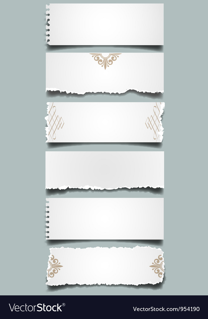 Six different notes paper vector image