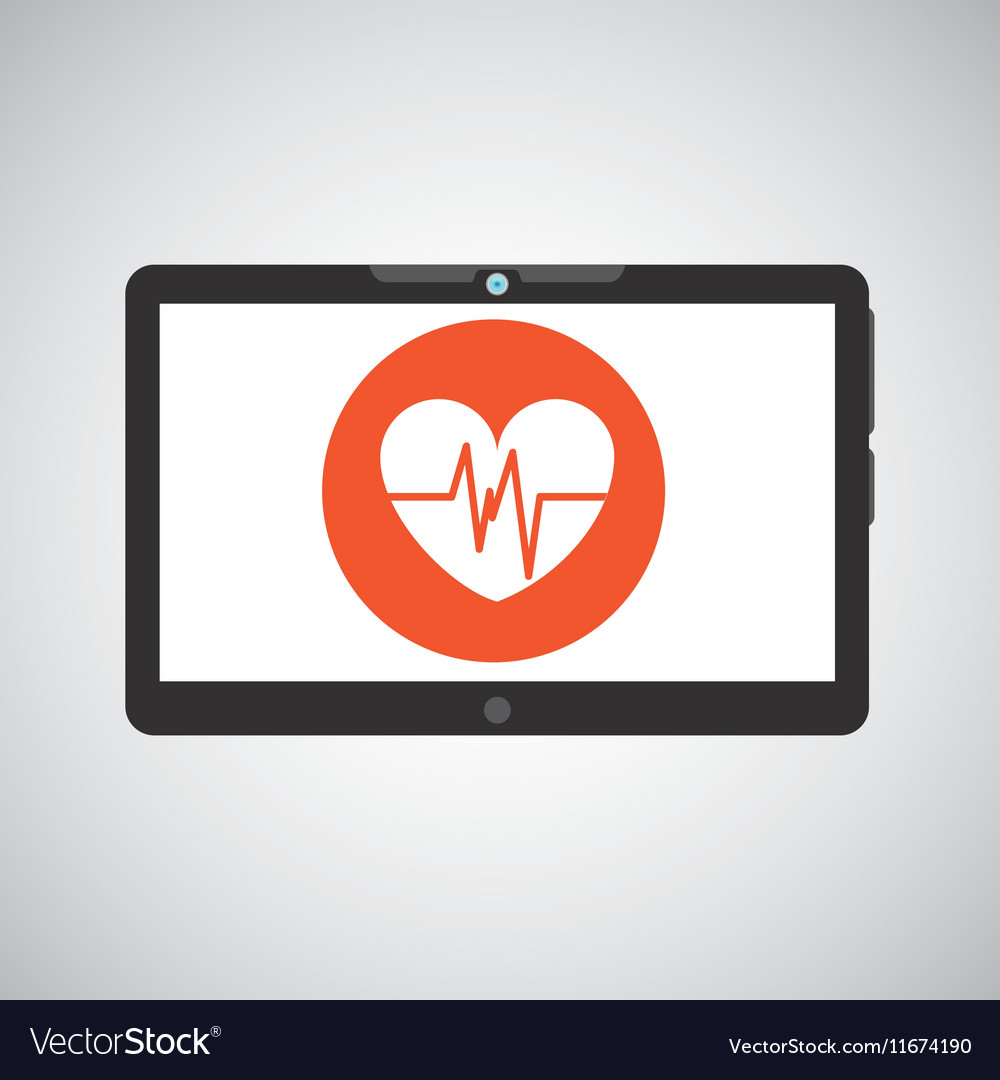 Technology heart medical social media design