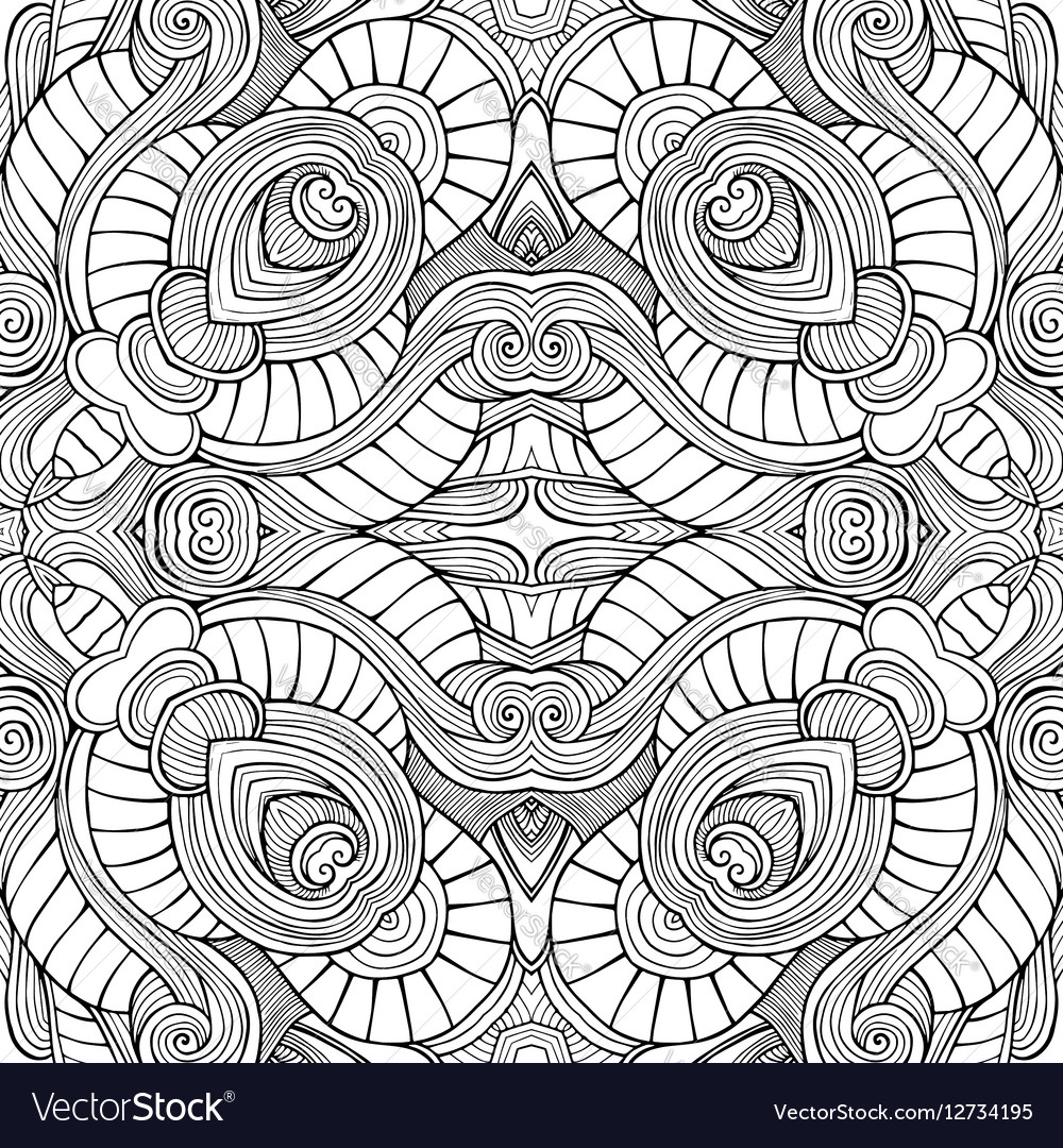 Abstract ethnic sketchy background