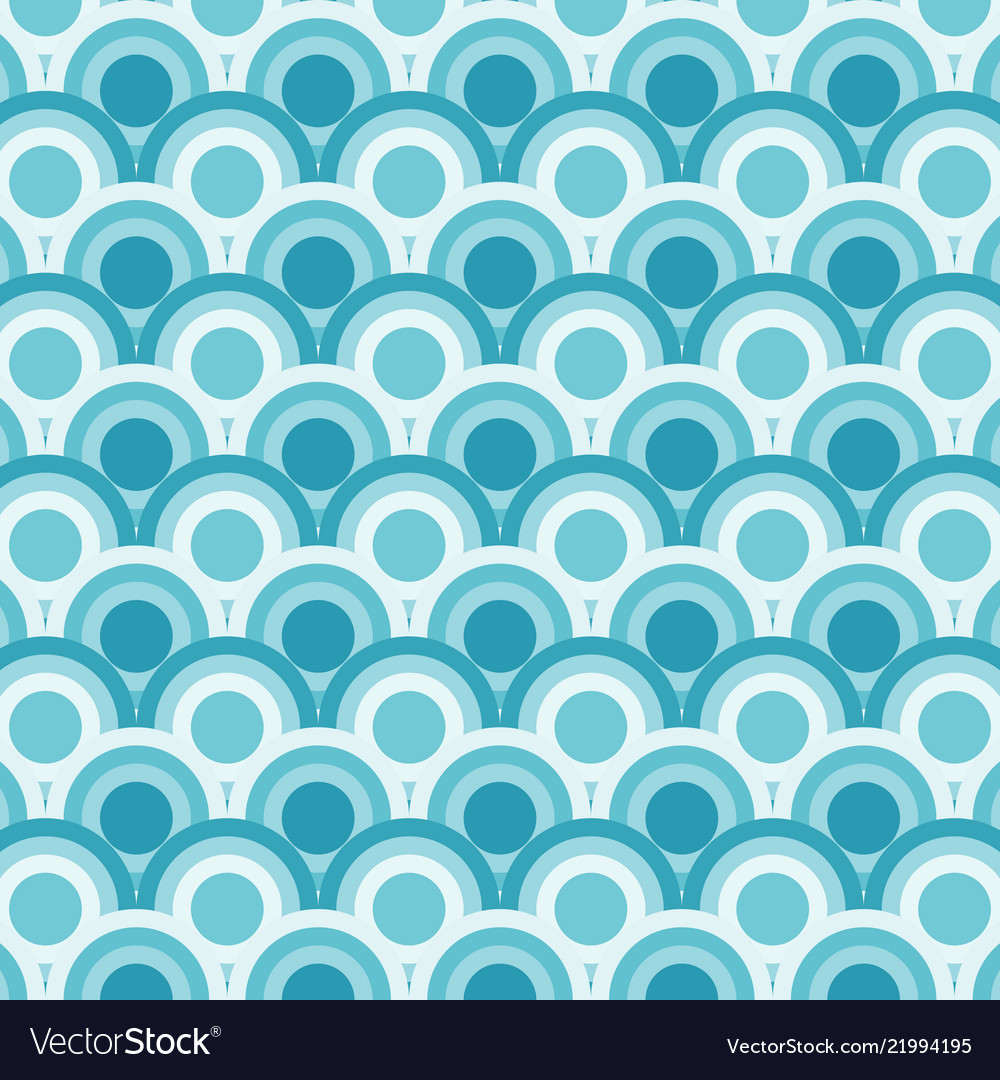Abstract of simple blue round wave pattern