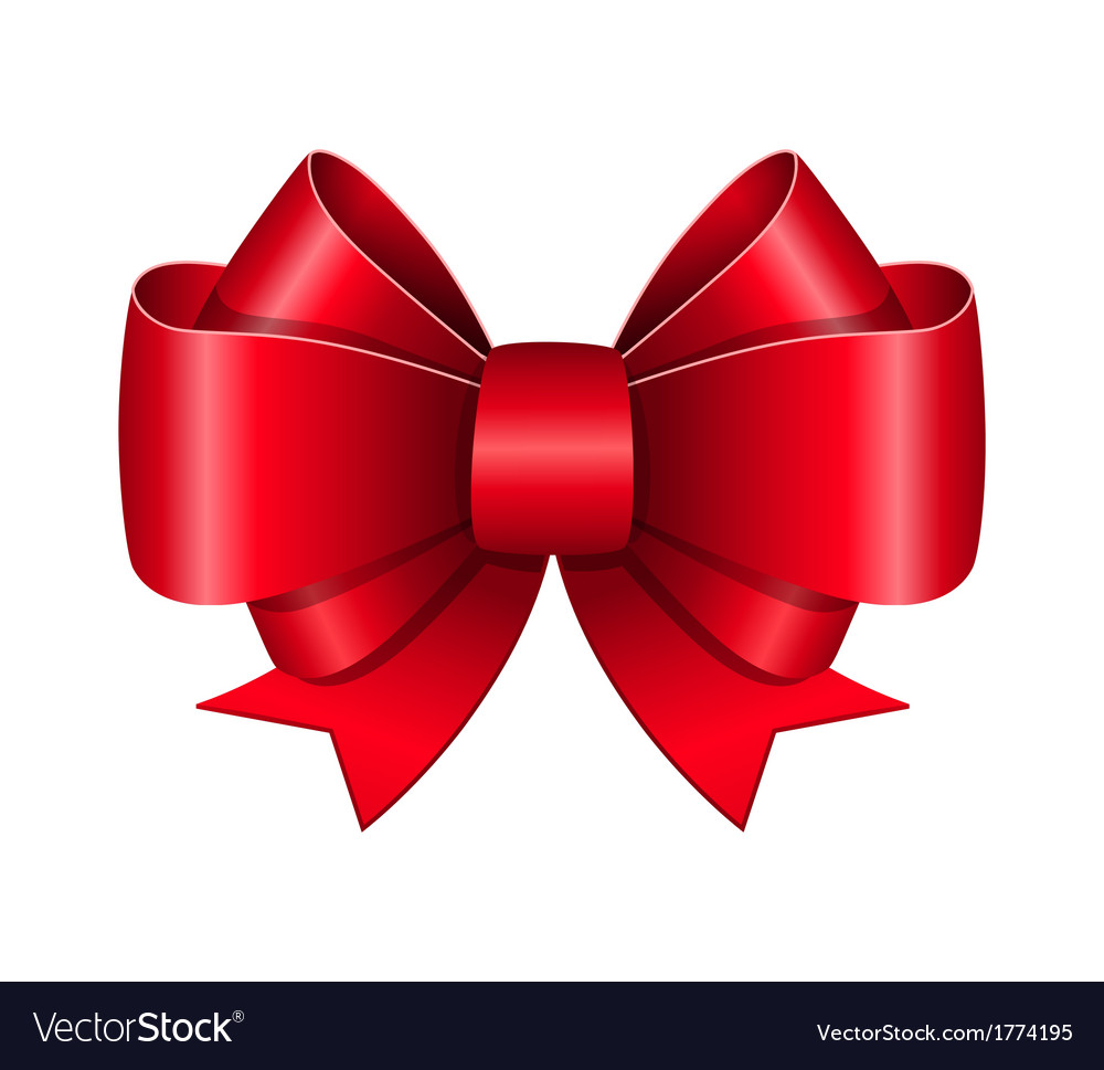 Red bow symbol vector image