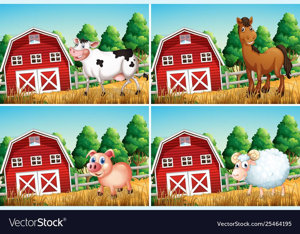 Set animal at farm