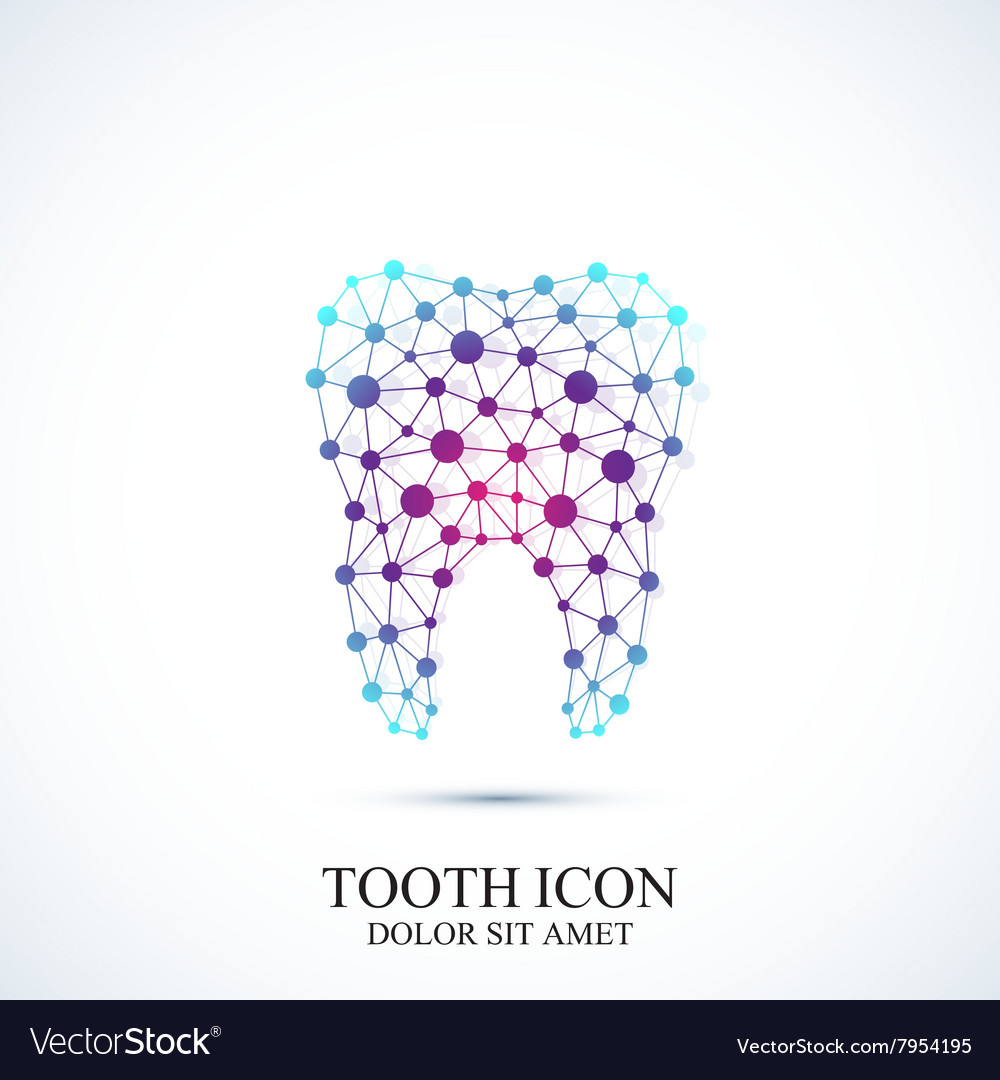 Tooth Icon Template Medical Design Royalty Free Vector Image