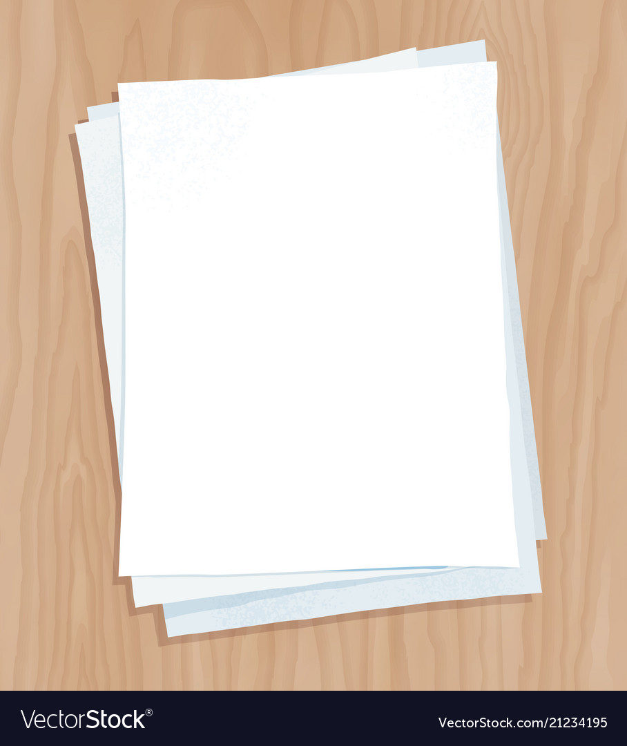 Top View Of White Paper Sheets