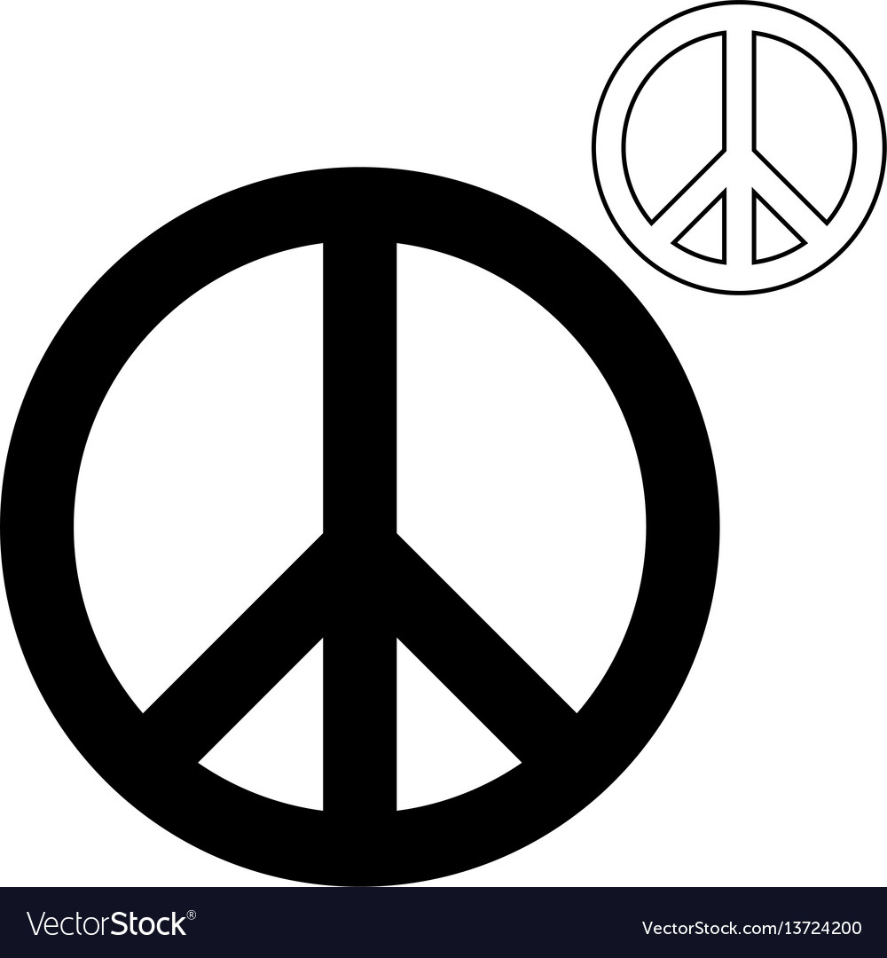 A Symbol Of Peace Or A Pigeon Foot Royalty Free Vector Image